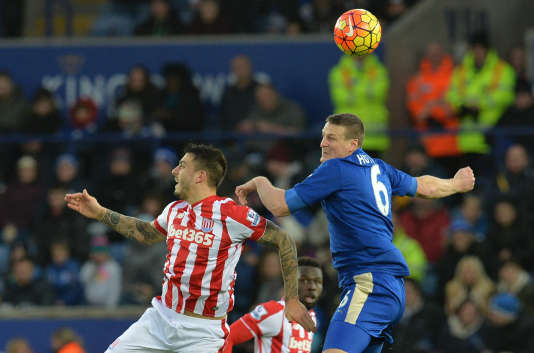 Match entre Leicester City et Stoke Cityle 23 janvier au King Power Stadium de Leicester.