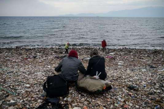 Le 29 janvier 2016, des migrants syriens qui tentaient de rejoindre la Grèce ont été stoppés par la police turque.