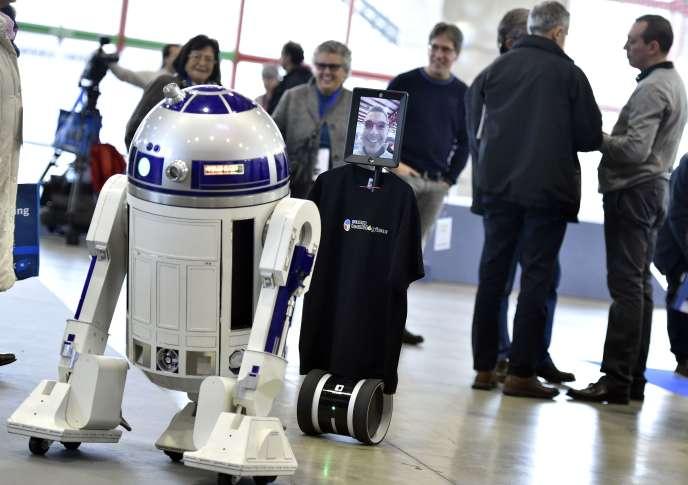 Au salon Global Robot Expo, à Madrid, le 29 janvier 2016.