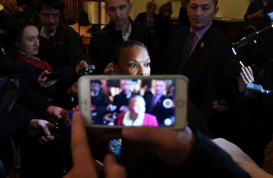 Christiane Taubira, lors d'une visite à New York, le 29janvier.