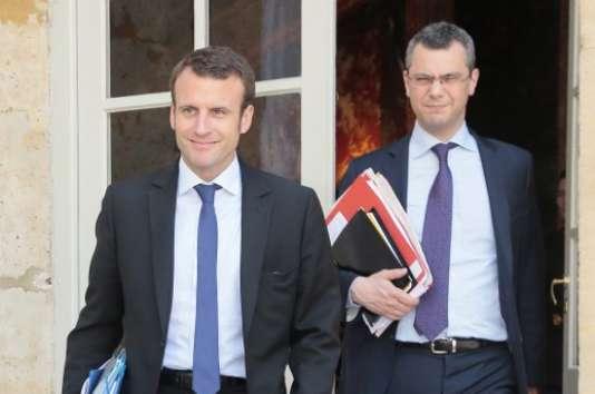 Emmanuel Macron et Alexis Kohler, en juin 2015.