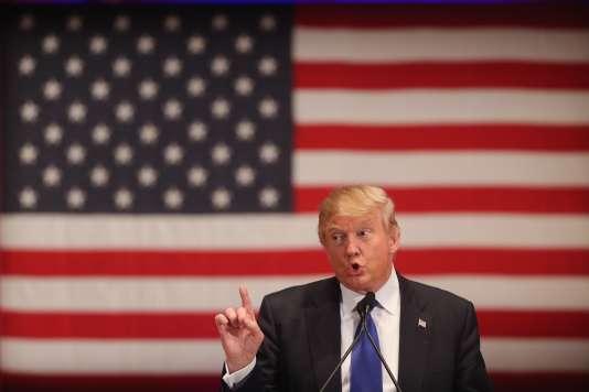 Donald Trump lors d'un meeting de campagne à Des Moines, dans l'Iowa, le 28 janvier.