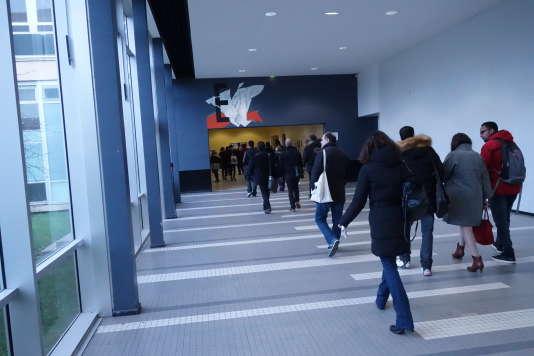 Etudiants à l'université de Nanterre, le 28 janvier.