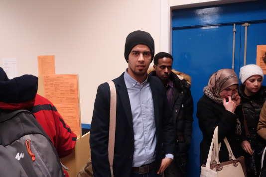 Réfugiés et étudiants à Nanterre le jeudi 28 janvier.