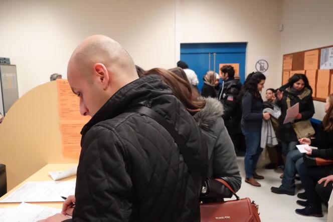 Salle des inscriptions, le 28 janvier 2016, université de Nanterre