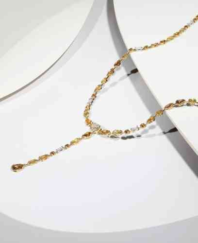 Collier Swan Lake en or, diamants blancs, jaunes et orange, pendant détachable, De Beers.