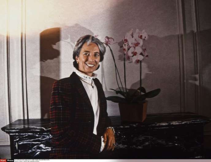 Christine Lagarde, à 35 ans, dans sa tenue