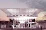 La mezzanine vitrée offrira un panorama à 360° sur les trains en contrebas, mais aussi sur la ville et la Loire.