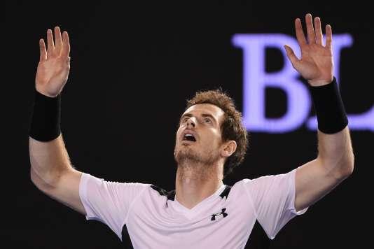 Andy Murray après sa victoire face à Raonic à l'Open d'Australie.