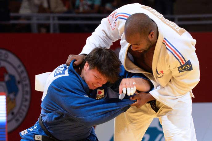 Le Japonais Ryu Shichinohe face à Teddy Riner au Masters de Rabat en mai 2015.