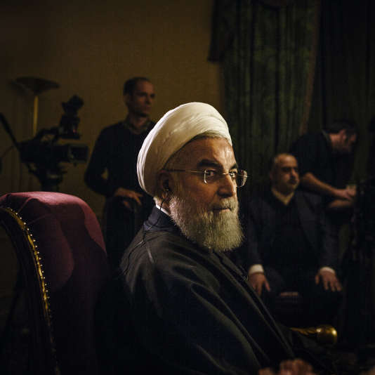 Hassan Rohani, à Paris, le 28 janvier.