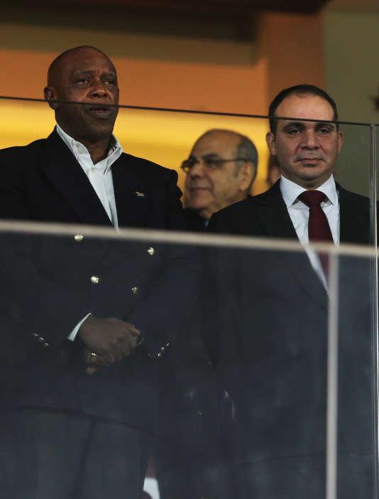 Le prince jordanien Ali Ben Al-Hussein et le Sud-africain Tokyo Sexwale, en janvier.