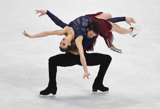 Les Français Gabriella Papadakis et Guillaume Cizeron, samedi 30 janvier à Bratislava.
