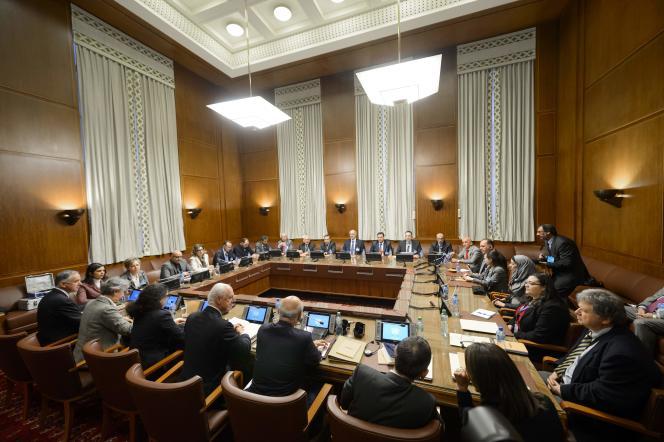 Les pourparlers de paix en Syrie sous l'égide des Nation unies, à Genève, le 29 janvier 2016.
