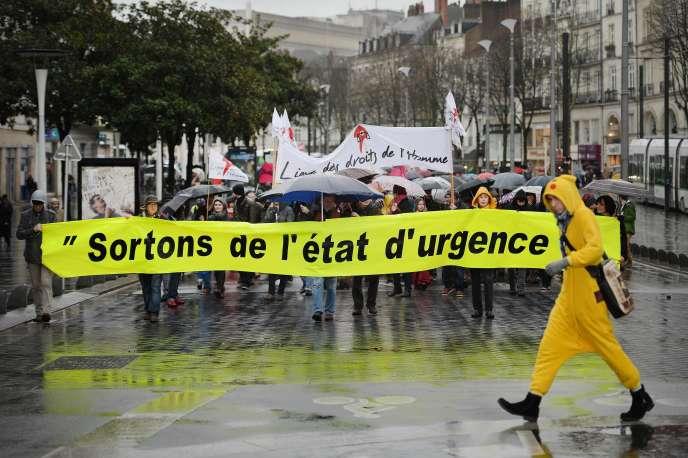 Des manifestations ont eu lieu dans 70 villes de France, comme ici à Nantes.