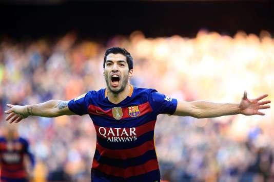 L'attaquant Luis Suarez, buteur face à l'Atlético Madrid, samedi 30 janvier.