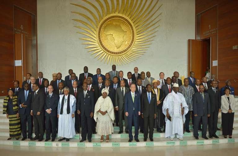 Les dirigeants africains présents lors du 26esommet de l'Union africaine, à Addis-Abeba, le 30janvier.
