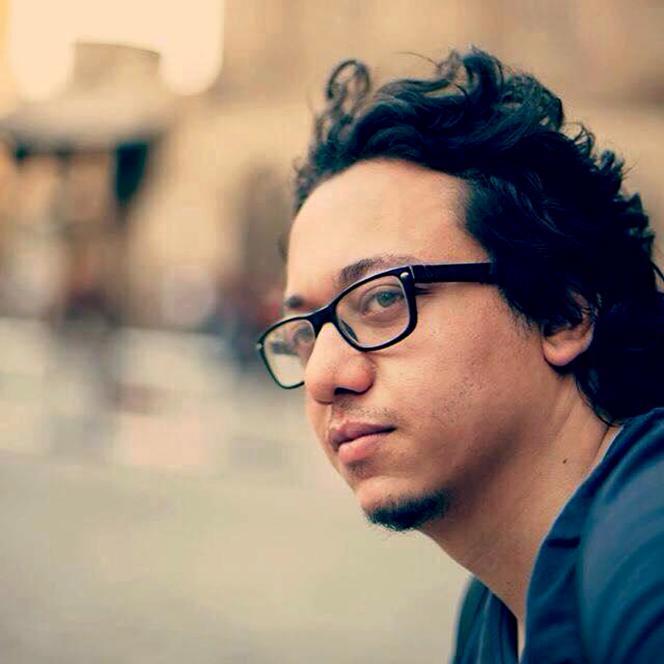 Le caricaturiste égyptien Islam Gawish, en août 2015, au Caire.
