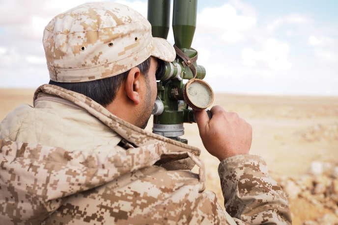 Le 24 janvier 2016. Ligne de front des forces de Misrata contre Daech, située à 80 km au sud de Sirte.