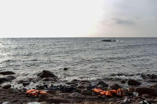 Naufrage en mer Egée, le 31 janvier.
