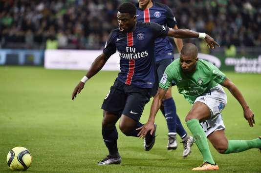 Le défenseur du PSG Serge Aurier lors du match contre Saint-Etienne, le 31 janvier.