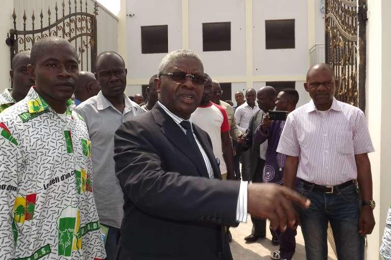 Pascal Tsaty Mabiala, le secrétaire général de l'Union Panafricaine pour la Démocratie Sociale(Upads), à Brazzaville le 31 janvier 2016.