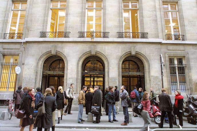 L'entrée de l'Institut d'Etudes Politiques (IEP) de Paris.