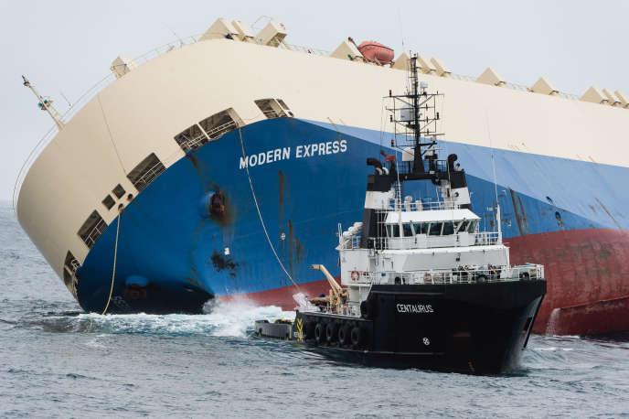 Le cargo «Modern-Express» est remorqué depuis le 1erfévrier, après avoir dérivé sept jours.