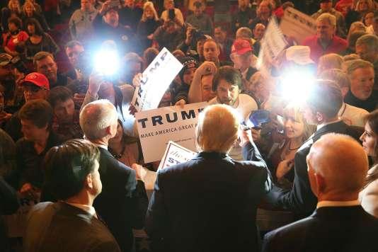 Donald Trump, lors d'un meeting politique dans l'Iowa, le 31 janvier