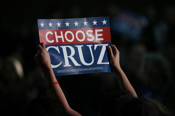 Lors d'un meeting de Ted Cruz, le 31 janvier à Des Moines (Iowa).