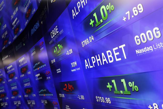 Le groupe Alphabet a publié, le 1erfévrier 2016, des résultats largement supérieurs aux attentes des analystes, ce qui a fait bondir l'action de plus de 6% à 796dollars au cours des échanges après Bourse.