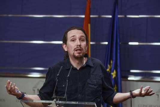 Le leader de Podemos, Pablo Iglesias, le 1er février.