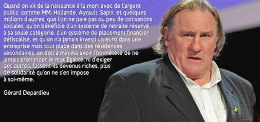 lettre gerard lanvin L'histoire de la citation hostile à Hollande qui changeait d'acteur lettre gerard lanvin