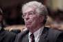 Pierre Joxe, lors de l'assemblée générale du Conseil national des barreaux à Paris le 5 octobre 2012.
