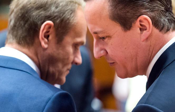 Donald Tusk et David Cameron à Bruxelles, en juin 2015.