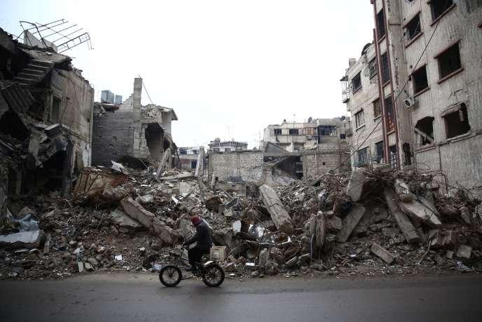 A Ghouta, près de Damas, le 5  janvier.