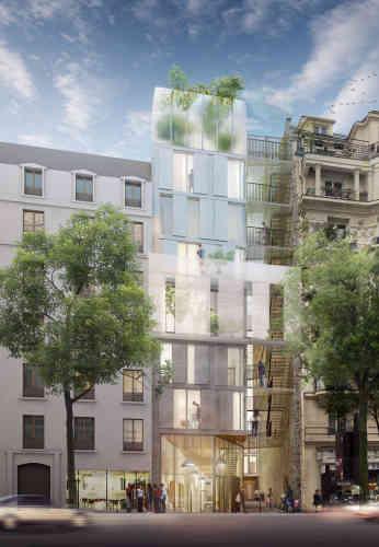 Situé au 183, rue Ordener (Paris 18e),  ce futur bâtiment devrait intégrer une crèche de 40 places et un programme de logement d'environ 25 logements.