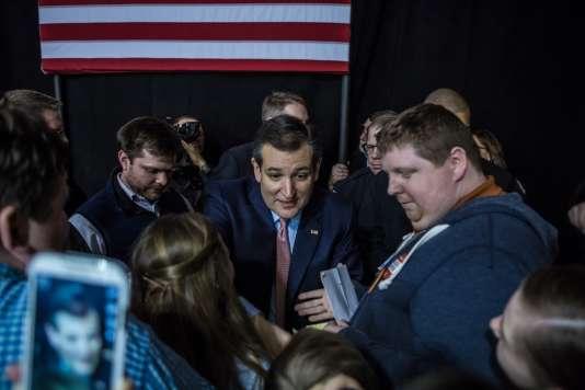 Le sénateur du Texas Ted Cruz, à Des Moines (Iowa), le 1er février.