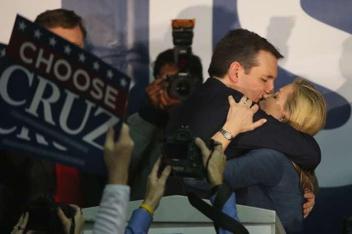 Le candidat républicain Ted Cruz, à Des Moines, après sa victoire dans l'Iowa, le1erfévrier 2016.
