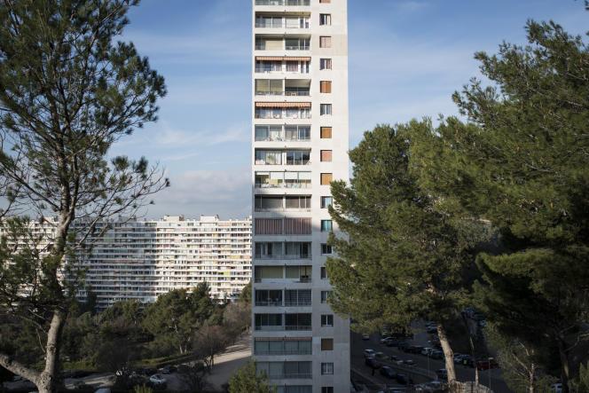 Un immeuble de la Rouvière, dans le 9e arrondissement de Marseille.