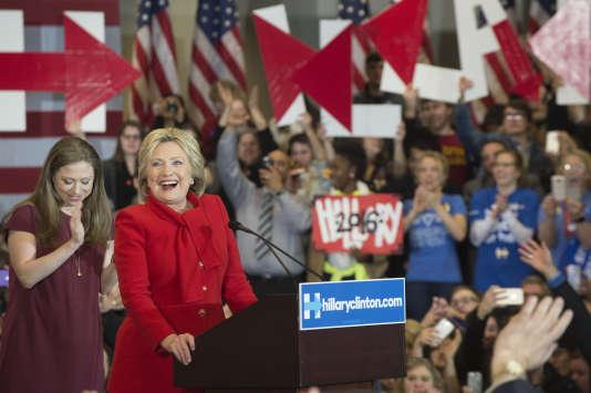 Hillary Clinton lors de la soirée électorale, à Des Moines, le 1er février.