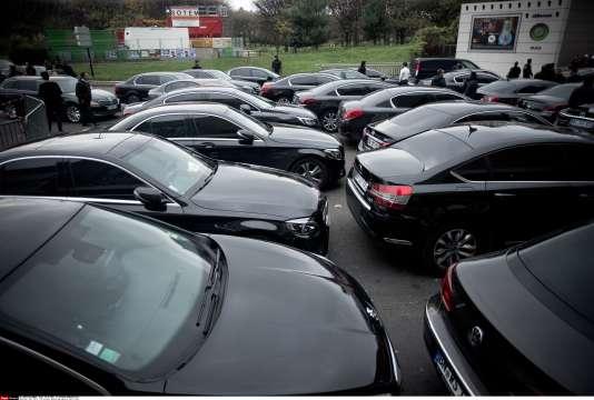 Les chauffeurs de VTC avaient déjà manifesté le 18 décembre 2015, porte Maillot à Paris