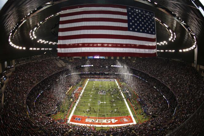 Une vue du Super Bowl 2013 à La Nouvelle-Orléans.