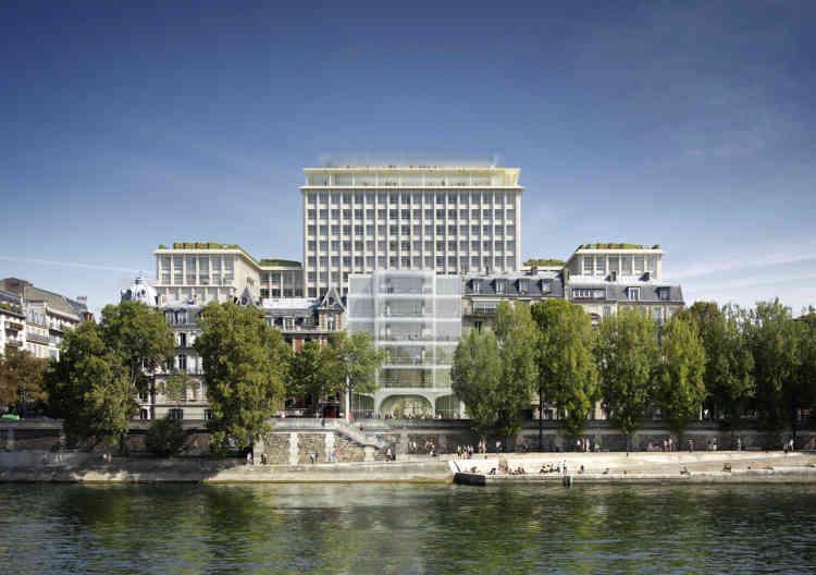 Propriété de la ville de Paris, située au 17 boulevard Morland (4e), le projet accueillera des commerces, une crèche de 66 places, 5 000 m2 de logement social, ainsi qu'un hôtel et des bureaux. L'ancien hall d'accueil sera partiellement transformé en marché alimentaire (épicerie, boucherie, poissonnerie, fromagerie…) imaginé par les équipes de Terroirs d'Avenir. Le sommet de la tour, l'une des plus belles vues sur Paris, accueillera, en outre, sur les deux derniers étages, un concept artistique développé par l'artiste danois Olafur Eliasson et le studio Other Spaces, ainsi qu'un bar panoramique et un restaurant.