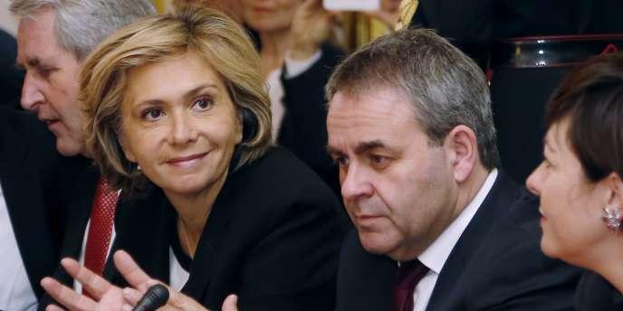Valérie Pécresse et Xavier Bertrand, lors d'une réunion à Matignon, en février.