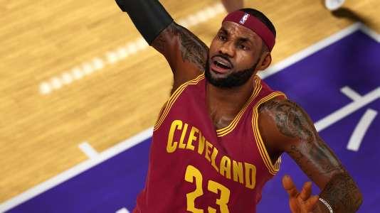 LeBron James, ici dans «NBA 2K15», est retranscrit jusqu'au dessin de ses tatouages sur les bras. Un groupement de tatoueurs réclame 1,2 million de dollars.