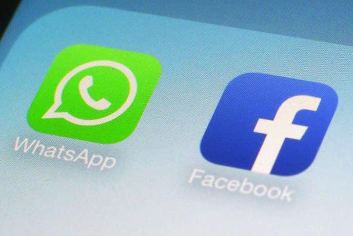 Les icônes de WhatsApp et de Facebook.