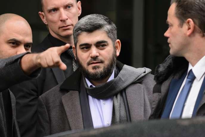 Mohamed Allouche, 45 ans, membre du bureau politique de Jaish Al-Islam et négociateur en chef de l'opposition pour les pourparlers sur la Syrie, à Genève, le 3 février 2016.