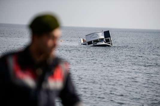 A Lesbos, le 30 janvier.