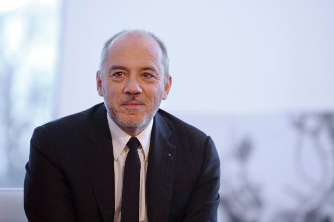 Le patron d'Orange, Stéphane Richard, le 3 février 2016 à Paris.